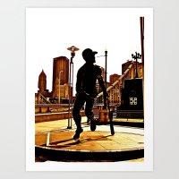 Roberto's Shadow Lives In Roberto's City Art Print