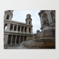 Parisian Fountain Canvas Print