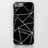 iPhone & iPod Case featuring Abstract Dotted Lines White on Black by Project M
