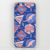 Nineties Dinosaurs Patte… iPhone & iPod Skin