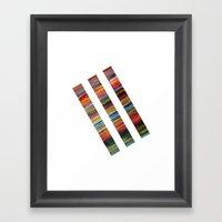 Watercolor Lines Framed Art Print