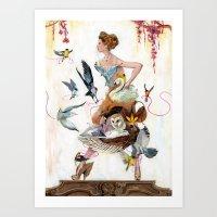 Lady Of Spring Art Print