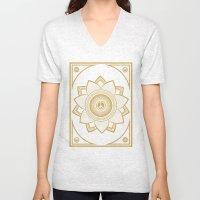 Peace Lotus Unisex V-Neck