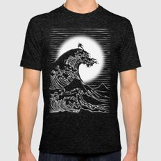 Waterbending Mens Fitted Tee Tri-Black SMALL