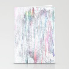 Abstract Streaks Whitened Stationery Cards
