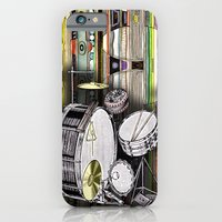 iPhone & iPod Case featuring Drum Kit by JustinPotts