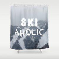 SKIaholic Shower Curtain