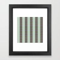 Tan Black Mint Checkerbo… Framed Art Print