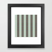 Tan Black Mint Checkerbo… Framed Art Print