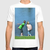 How Far Can You Throw Mens Fitted Tee White SMALL