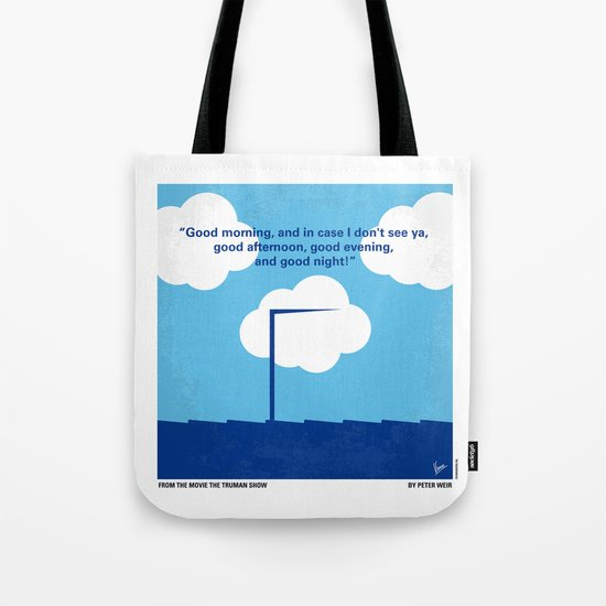 No234 My Truman show minimal movie poster Tote Bag