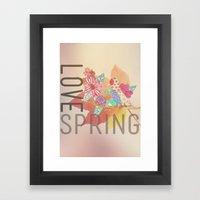LOVE SPRING Framed Art Print