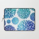 Ocean Flowers Watercolor Laptop Sleeve