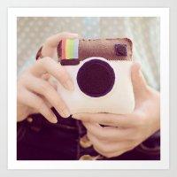 Instagram  Art Print