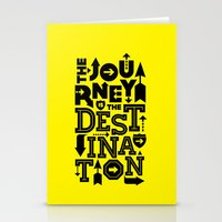 Yellow Journey Quote Stationery Cards