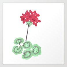 Wembley Gem Red Flower Art Print