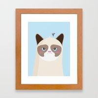 Grumpy Cat Framed Art Print