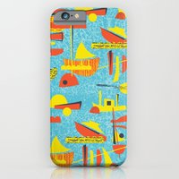 Abstract Boats inspired by midcentury 1950s design iPhone 6 Slim Case