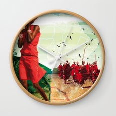 Poster Afryka! Wall Clock