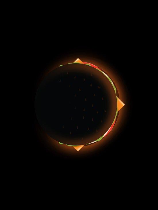 Burger Eclipse Art Print
