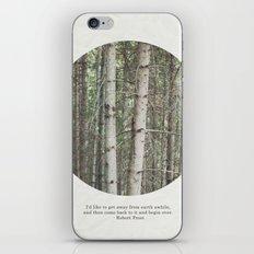 robert frost's birch trees iPhone & iPod Skin