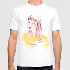 UFO White Mens Fitted Tee SMALL