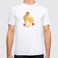 Apple Jack Mens Fitted Tee Ash Grey SMALL