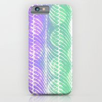 Mint And Lilac Waves iPhone 6 Slim Case