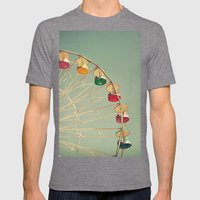 Color Wheel Mens Fitted Tee Tri-Grey SMALL