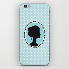 Blue cameo iPhone & iPod Skin