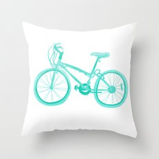 No Mountain Bike Love? Throw Pillow