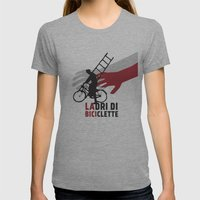 Ladri di biciclette Womens Fitted Tee Athletic Grey SMALL