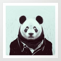 Panda googly eyes Art Print