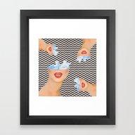Internal Clouds Framed Art Print