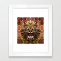 Hell's Lion Framed Art Print