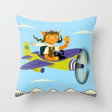 Tibbles Learns To Fly Throw Pillow