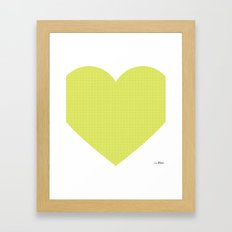 I love you this much... (green) Framed Art Print