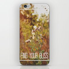 find your bliss. iPhone & iPod Skin
