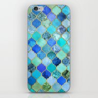 Cobalt Blue, Aqua & Gold… iPhone & iPod Skin