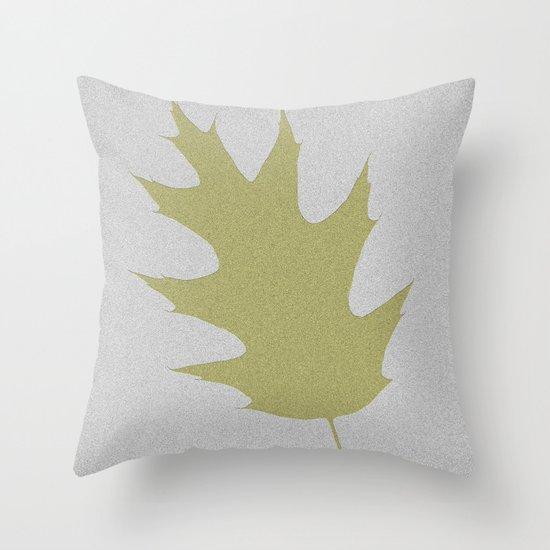 Feuille d'arbre de chêne Throw Pillow