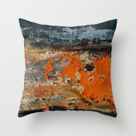 Painted Boat Throw Pillow