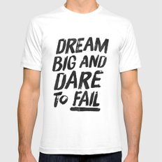 II. Dream big SMALL White Mens Fitted Tee