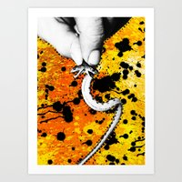 Two Headed Snake Art Print