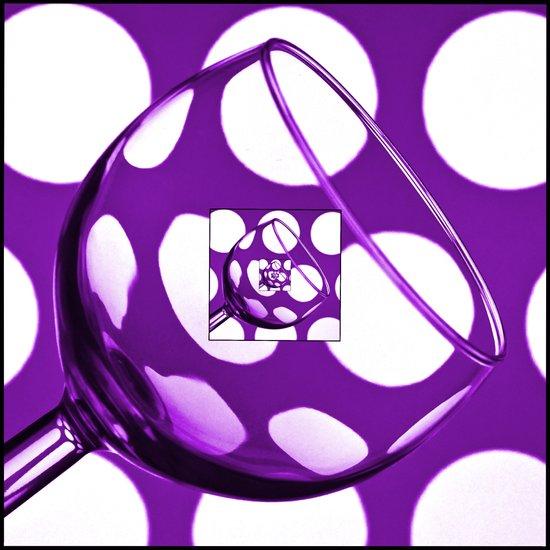 The Eternal Glass Purple Art Print
