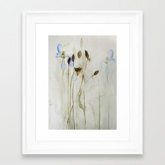 beautiful weeds Framed Art Print