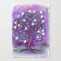 Violet Mystic Tree Canvas Print