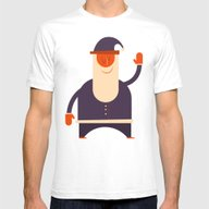 Say Hi To Santa Mens Fitted Tee White SMALL