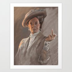 Maggie Smith Gives The F… Art Print