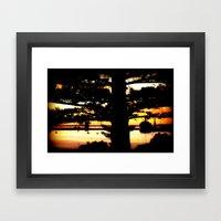 Sunrise Between Norfolk … Framed Art Print
