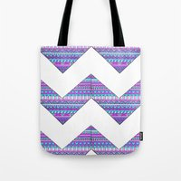 Patterned chevrons Tote Bag